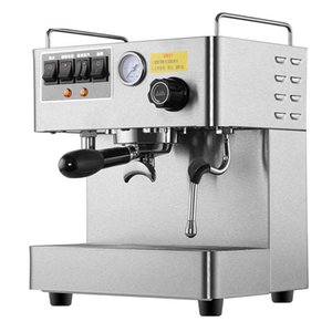 Macchina per caffè espresso professionale CRM3012 Macchina per caffè completamente automatica in acciaio inossidabile Capacità 15 bar di pressione 1,7 l