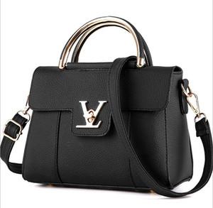Borse a tracolla spessa acrilico delle borse delle donne delle borse di Blascher 2019 Nuove borse di cuoio di alligatore delle borse di stile di Brown di modo retro per le signore