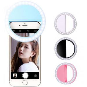 Portable Battery Style 8cm*3cm LED Selfie Ring Light Flash Spotlight Circle Round Photo Camera Fill Light Lamp For all smartphone XJ01