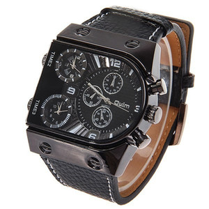 Modemarke OULM Männer Luxus Militär Sport Armbanduhr Drei Quartz Uhren Edelstahl Band Quarzuhr für Mann