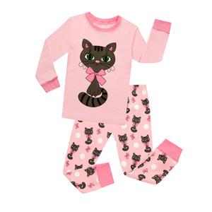2018 Corrispondenti per bambine e bambole Set per bambini Gatto carino Cotone pigiama Neonate Pigiama Bambini Pigiama Unicorno Pigiami da notte Homewear