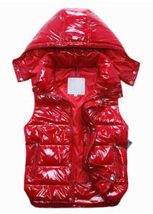 고품질 프랑스어 새로운 디자이너 남성과 여성 겨울 다운 조끼 클래식 깃털 weskit 재킷 여자 캐주얼 조끼 코트