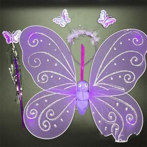 İyi Noeller Tek tabakalı Altın Tozu Kelebek Kanat El yapımı Nefis Angel Wings Çocuk Hediyeleri Erkek Kız Küçük 2 8HX cc