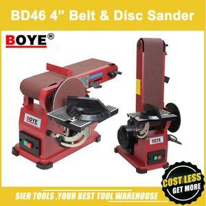 "BD46 4 ""حزام قرص ساندر / BOYE آلة الصنفرة / 375W حزام ساندر صينية Sander / New Sanding Machine"