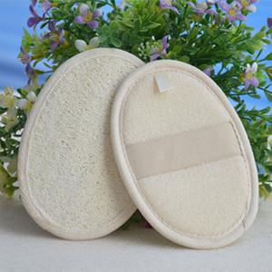 Soft Exfoliating Loofah Natural Body Back Poignée éponge Brosse de bain Douche Massage Spa Scrubber Brush Tampon de lavage corporel