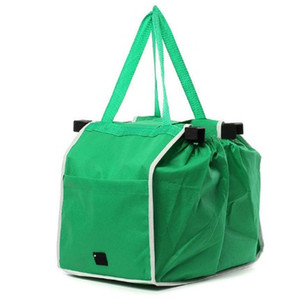 그로서리 잡아 쇼핑 가방 접이식 토트 핸드백 재사용 트롤리 클립 카트 장바구니 쇼핑백