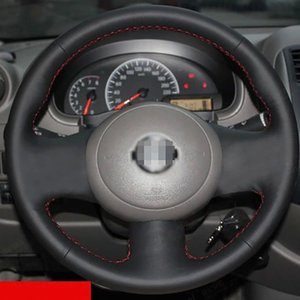 New Anti Slip Black Leather Steering Wheel Stitch on Wrap Cover For Nissan Sunny