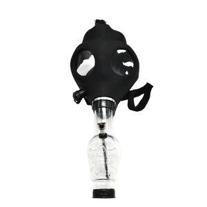 Máscara de silicone Tubo Bong bongs criativa máscara acrílica cachimbo máscara de gás acrílico Pipes transporte livre