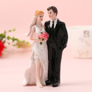 FEIS 2019 hotsale resigh romantik gelin ve damat birlikte ayakta odası dekorasyon düğün tedarikçisi hediye kek topper