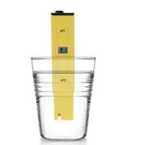 10 unids / lote Excelente analizador de bolsillo pluma tipo pantalla digital ph Meter piscina Probador de la calidad del agua Prueba de acidez
