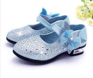Filles en cuir Chaussures Enfants Strass Glitter Enfants Chaussures en cuir Princesse Filles Sandales Tout-Petits Grandes Filles Chaussures De Noce