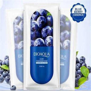 Dropshipping New BIOAQUA Masque facial de gelée pour le visage Masque hydratant profond hydratant pour le visage Empêcher le masque de sommeil Blueberry Sakula Sheet 8g