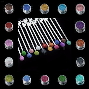 Holográfica Laser Prego Pó Charme Pó Doce cores Sereia Prego Glitter Decorações Nail Art Pigmento DIY Manicure Designs