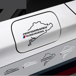 Nuovo stile auto tappo del serbatoio del carburante adesivo Racing Road Nurburgring per bmw e46 e90 e60 e39 f30 f34 f10 e70 e71 x3 x4 x5 x6 Car Styling