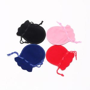 FANSTIC 7 * 9cm Velvet Bag Sacchetto di cordoncino Calabash forma gioielli imballaggio matrimonio / sacchetto del regalo di Natale