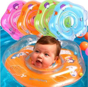 Новый Надувной Ребенок Плавание Шеи Кольцо Детские Трубки Кольцо Безопасности Младенческой Шеи Поплавок Круг Для Купания Плавательный Аксессуары