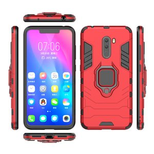 2 en 1 Hybrid a prueba de golpes Armor Ring Holder Kickstand Case para Xiaomi F1 5X Xiaomi 6X Car Hold Mount Magnetic Cellphone Case
