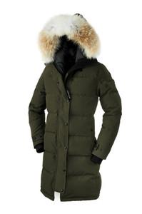 Shelburnes Big Fur Top Copriscarpa da donna Parka Winter Park Arctic Parka Navy Nero Verde Rosso Outdoor Felpe con cappuccio Spedizione gratuita DHL