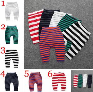 INS bambini Primavera autunno cartone animato a strisce in cotone pp pantaloni pantaloni leggings pantaloni haren 6colors scegliere multicolor baby pane pantaloni