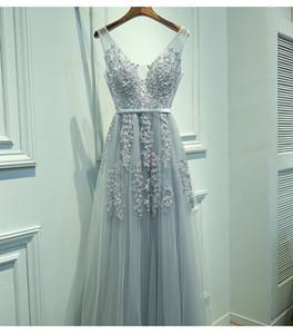 Vestido de Festa V шеи кружева из бисера ВМС Royal Blue Burgundy Black Red Silver Bridesmaid платья формальные платья Party Party платье плюс размер