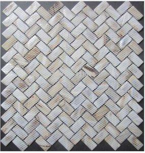 Yeni renk mozaik karo 15X30 MM inci fayans annesi, Doğal kabuk mozaikler yer karoları, arka plan duvar; mutfak backsplash fayans