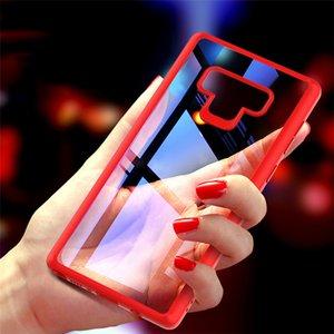 Para Samsung Galaxy Note 9 Telefone Caso duro do PC + silicone protetora Limpar TPU tampa traseira DHL Fast Shipping