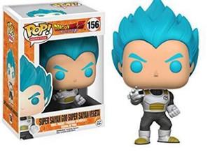 Funko pop Oficial de Dragon Ball Z resurrección F - figura de acción Super Saiyan Vegeta Dios vinilo de colección modelo de juguete
