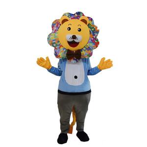 2018 di alta qualità hot lion mascotte costume formato adulto personaggio costumi del leone per il vestito operato partito abbigliamento