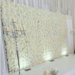 جديد 20 قطع أنيقة الحليب الأبيض روز الكوبية زهرة الجدار خلفية لوازم الزفاف الديكور 40x60 سنتيمتر لكل قطعة
