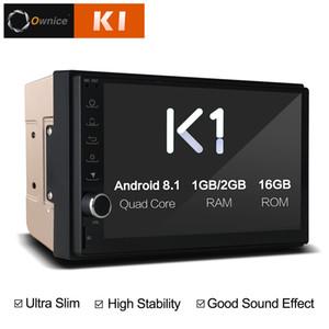 Ownice K1 Android 8.1 2G Ran 2 Din Araba DVD Radyo Evrensel Nissan Toyota VW Oyuncu Desteği 4G