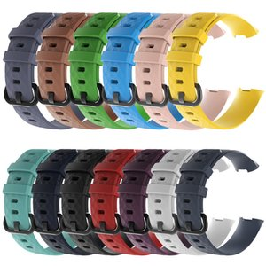 13 Color S L Two Size for Fitbit Charge 3 Strap Men Women Replacement Bracelet Silicone Band Diamond Pattern Smartwatch Accessies