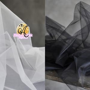 180 CM de largura fosco rígido tecido de malha hexagonal Com fio duplo vestido de noiva véu de tule tecido SR07