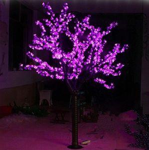 LED Artificielle Arbre de Fleurs de Cerisier Lumière de Noël Lumière 1248pcs LED Ampoules 2m / Hauteur 6.5ft Hauteur 110 / 220VAC Utilisation en plein air à la pluie Livraison gratuite