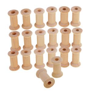 Bobines de canette en bois vides utiles pour fil de fil de broderie couleur naturelle pour la couture de la bricolage Notion de bricolage outils de bricolage 1200pcs / Lot