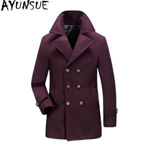 AYUNSUE Manteau De Laine Homme Veste Plus La Taille Manteau D'hiver Pour Hommes Casual Lâche Manteaux Manteau Casaco Masculino Hommes KJ238