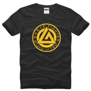 Jiu Jitsu Fitness camisetas impresas de los hombres de manga corta con cuello en V de algodón camiseta de los hombres de verano estilo creativo camiseta Homme