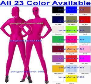 Traje de cuerpo completo sexy Traje de 23 colores Lycra Spandex traje Catsuit disfraces con negro Ojos de malla Unisex mono Trajes de Cosplay traje P229