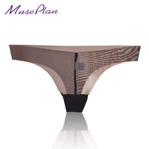 Sous-vêtements de femmes sexy sous-vêtements de gaze mince sous-vêtements une tentation sans couture slips de transparente culottes sans couture G-String S923