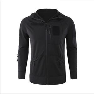Nuevo 2018 Winter Tactical chaqueta de forro polar exterior para hombre Suéter táctico Pulling stretch hoodie jacket