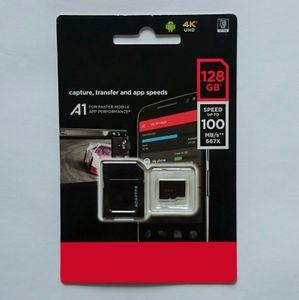 2020 A1 A2의 100Mbps의의 170mbps 블랙 화이트 안드로이드 익스트림 PRO 64기가바이트 128기가바이트 2백56기가바이트 플래시 클래스 10 TF 메모리 카드 카드