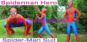 Unisex Fantezi Örümcek Adam Bodysuit Kostümleri Yeni Kırmızı / Mavi Likra Spandex Örümcek Adam Kahraman Suit Catsuit Kostümleri Unisex Örümcek-Adam Suit Kıyafet 137