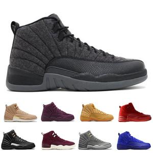 Nouveau 12 12 hommes chaussures de basketball Blé Gris Foncé Bordeaux Jeu De La Frappe Taxi Master Français Bleu Laine Barons Wolf Gris Baskets