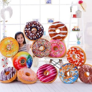 2018 Hot Y Practical 3D Printing Simulation Donut Pillow, Core Sweet Sweet Cushion, Almohada Alimenticia, Almohada