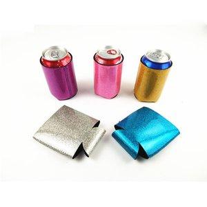 Glitter Neopren kann Kühler Sleeve kann Neopren Getränkekühler mit unteren Beer Cup Cover Case Housekeeping Storage Organisation