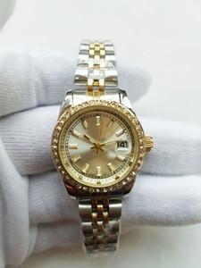 Lüks Bayan Elbise Saatler 26mm Şık Paslanmaz Çelik Gül Altın Saatler Yüksek Kalite Lady Rhinestone Kuvars saatı