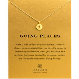 Dogeared Compass Choker Colliers Or Argent Avec Carte Pendentif Collier Pour La Mode Femmes Bijoux GOING PLACES