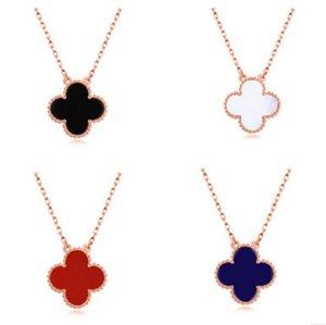 Lucky Süße Frauen 4 Farbe Exquisite für Mode Halsketten Geschenk Anhänger Romantische Rose Gold Trendy Mädchen Geburtstag Festival Klee Pofva