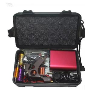الجملة الوشم كيت المهنية مع أفضل نوعية آلة ماكياج دائم لمعدات الوشم آلات الوشم الأحمر رخيصة