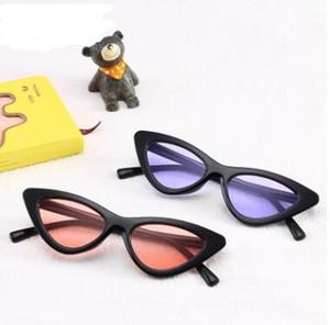 Новый Кошачий Глаз Солнцезащитные Очки Кадр 18 Цветов Красочные Мода Cateye Солнцезащитные Очки Женщины Очки Треугольные Очки