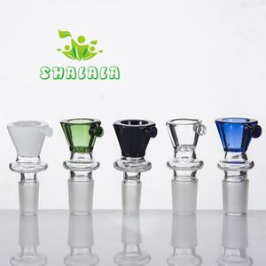 Ciotola di vetro colorato con miele Pettine schermo 10mm 14mm 18mm Maschio Femmina Connessione tubo di acqua Oil Rig Bubbler Smoking Bong 413